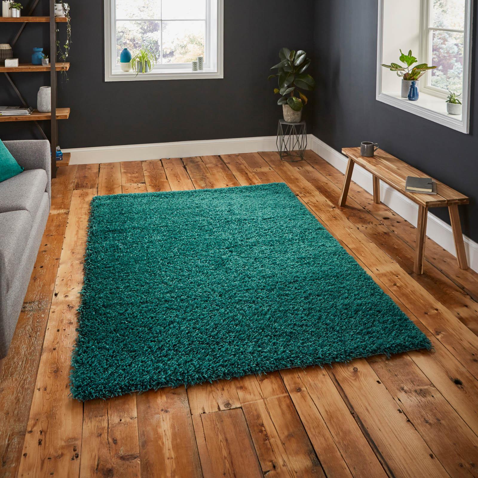 rug on wooden floor