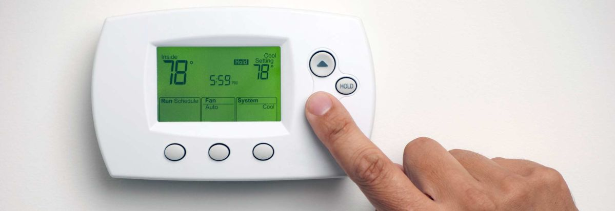 thermostat for heating the home