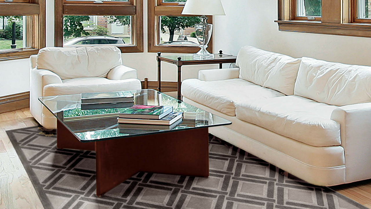 Graphic Illusions living room rug