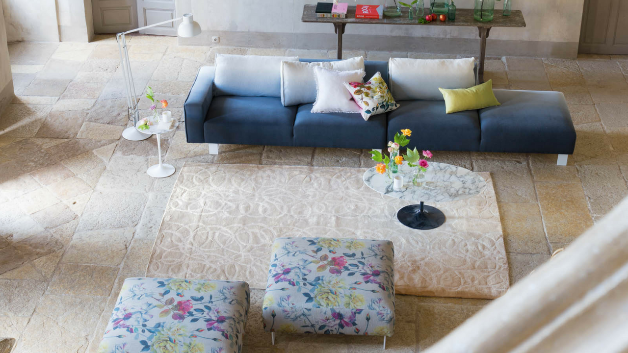 Marquisette Alabaster living room rug