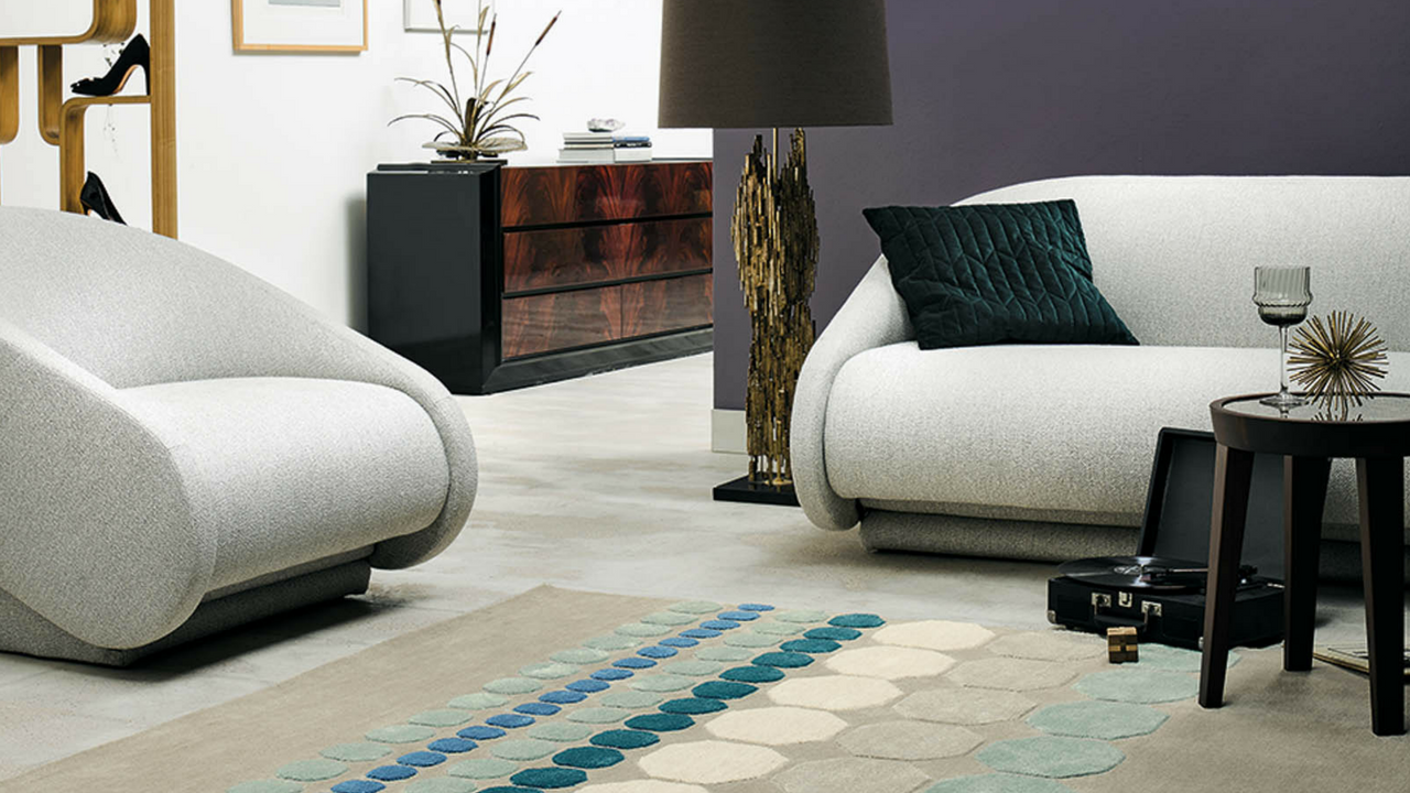 Barren living room rug