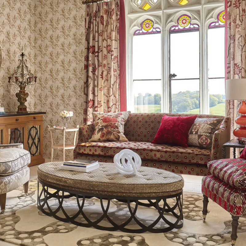 Riviere rugs in Biscuit by William Yeoward