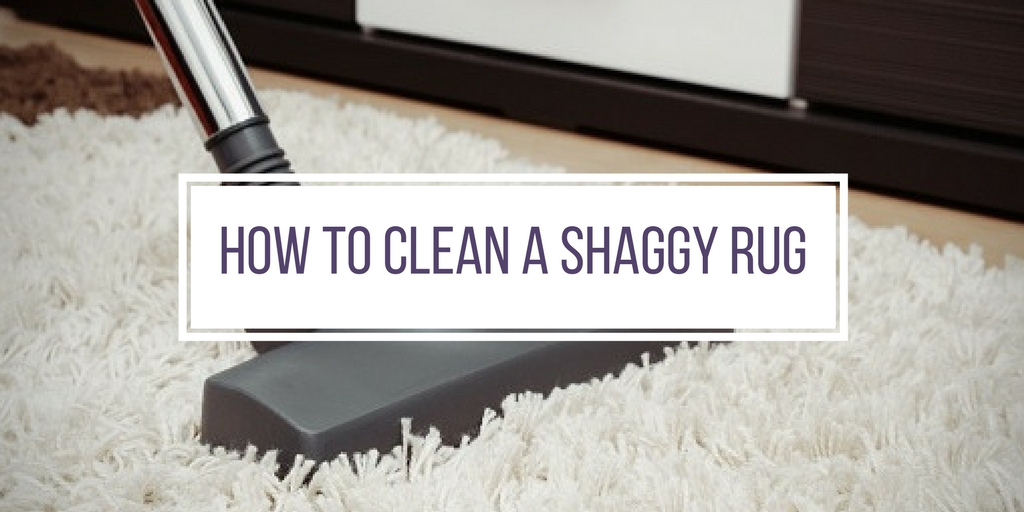 how to clean a shaggy rug banner