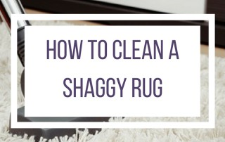 how to clean a shaggy rug featured image
