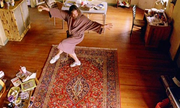 The Big Lebowski dancing on persian rug