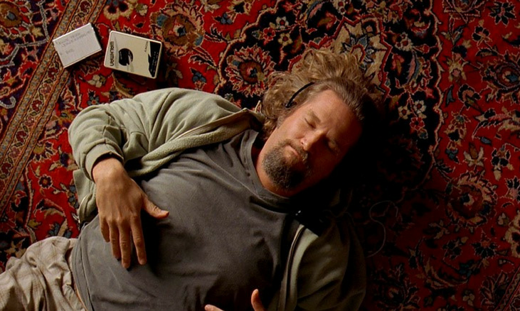 The Big Lebowski Jeff Bridges lay on rug