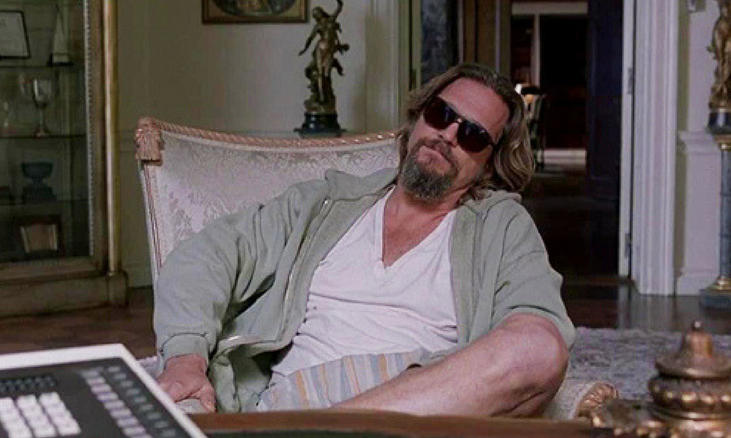 The Big Lebowski Jeff Bridges Relaxing