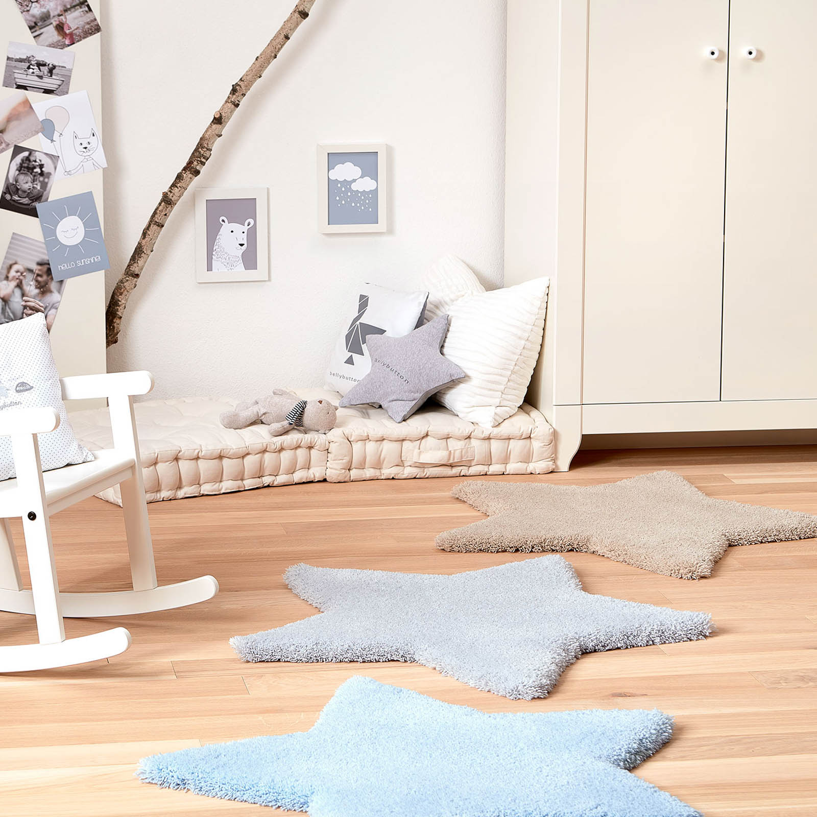 bellybutton Star Rugs 4211 02 in Blue