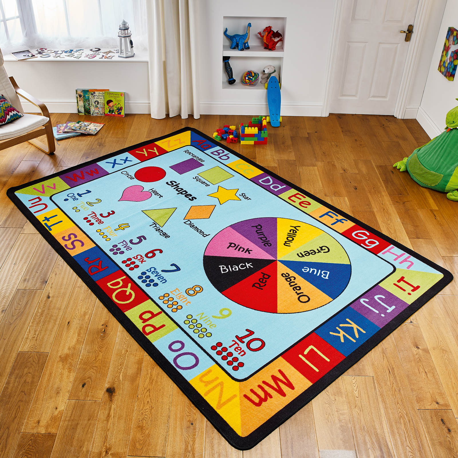 Learning Rectangle Educational Rug