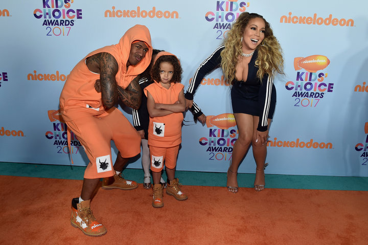 mariah carey and scott cannon on the orange carpet