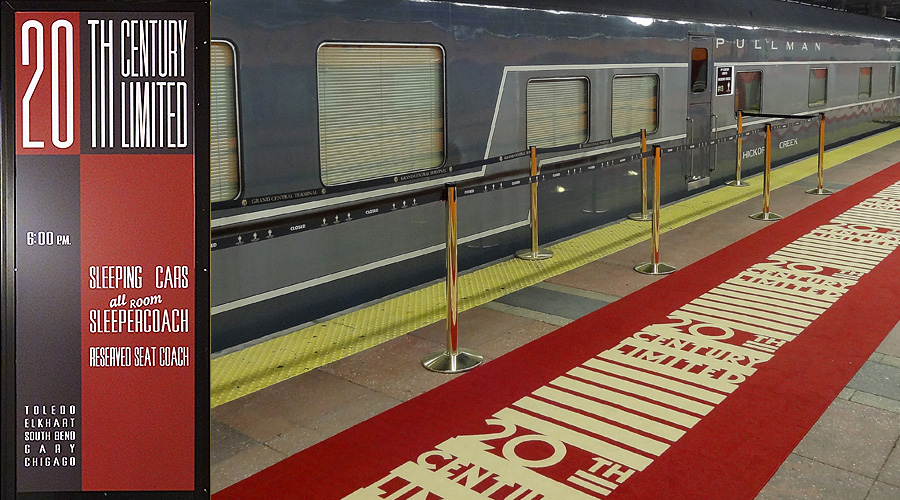 the 1902 new york/chicago train red carpet