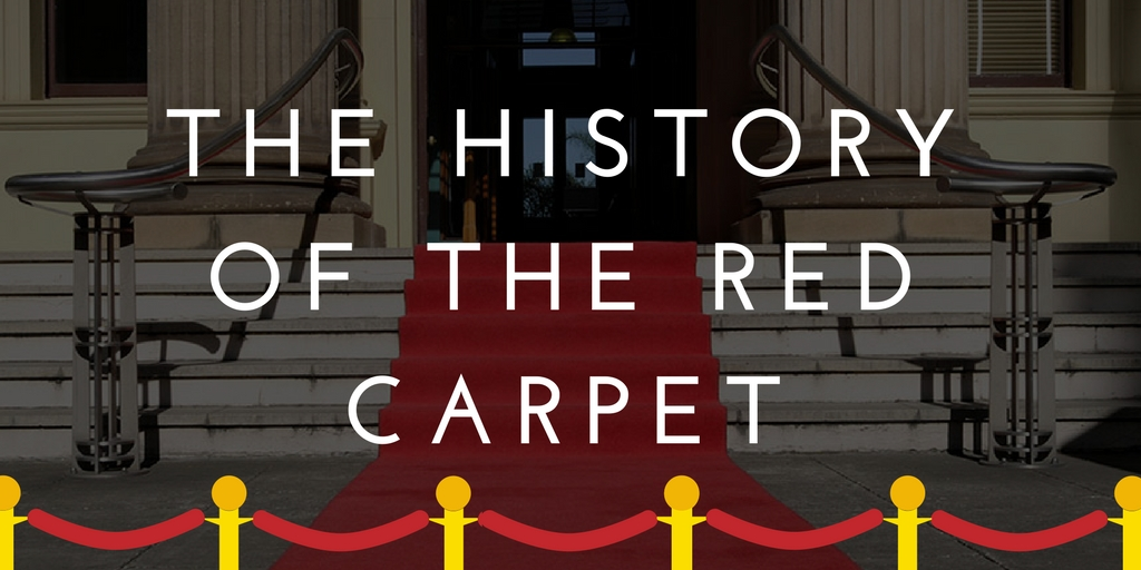 the history of the red carpet graphic