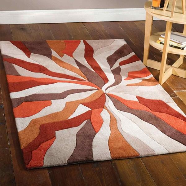 Splinter-Orange/peach rug spring colours 2016