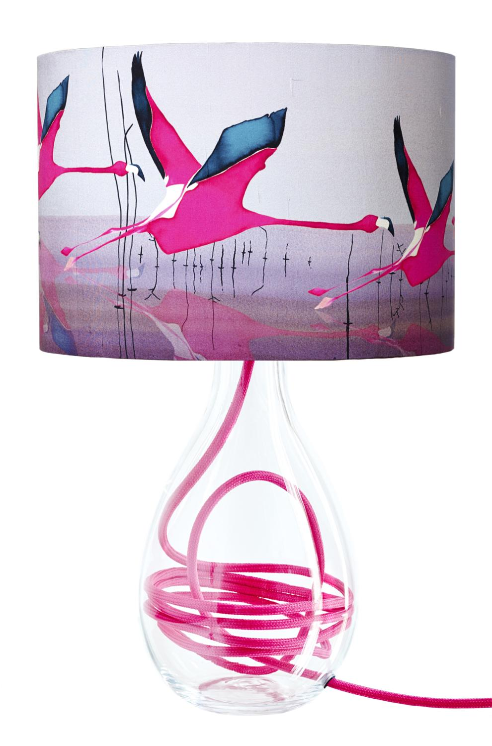 ANNA JACOBS BREAKING DAWN MEDIUM TABLE LAMP WITH RASPBERRY FLEX Flamingo Interior design ideas