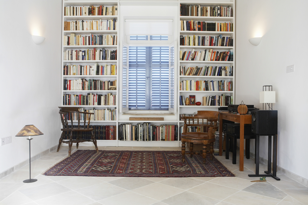 Home Interior With Library