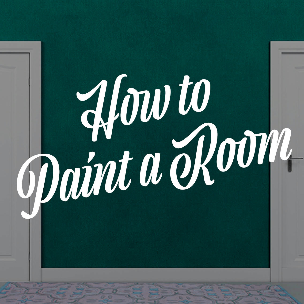 How to paint a room banner