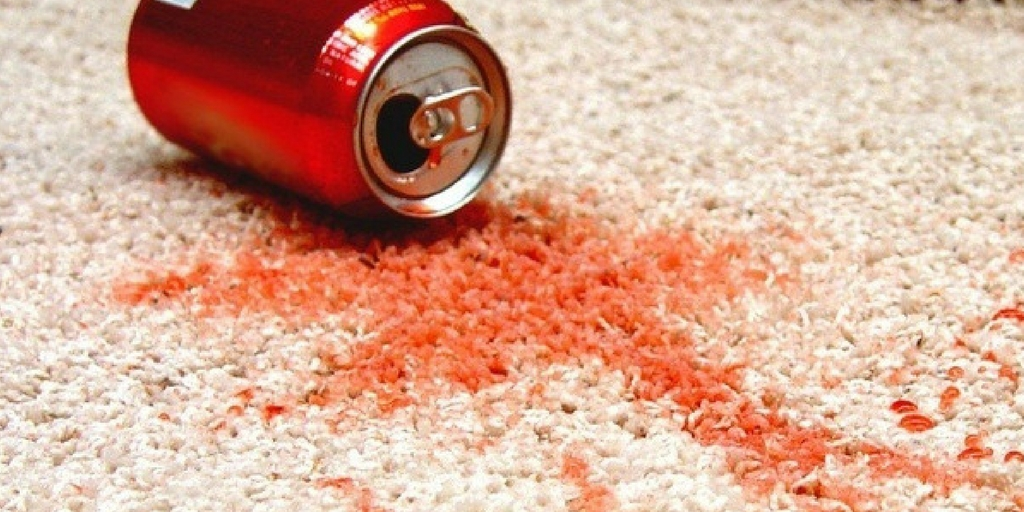 soft drinks spill on rug - rug care guide