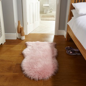 pink sheepskin rug - rug care guide