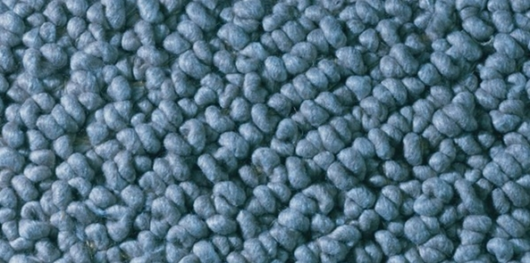 colour trend for 2017 denim blue rug closeup of knotted shagpile