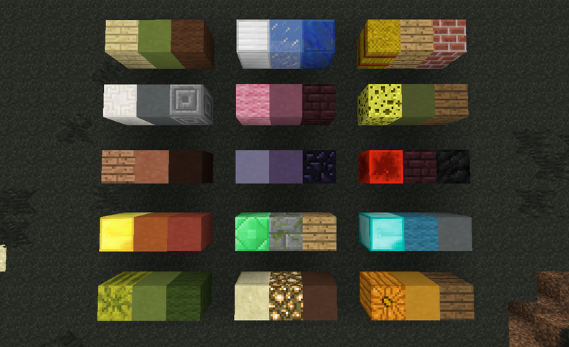 minecraft block design colour palette