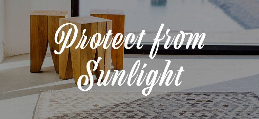 rug care guide protect from sunlight banner