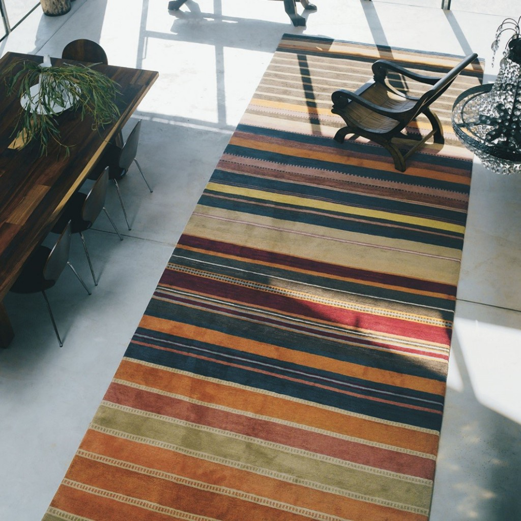 the best hallway runners of a multi-coloured striped himali hallway runner by brink & campman