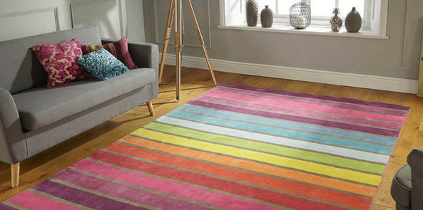 illusion candy striped rugs