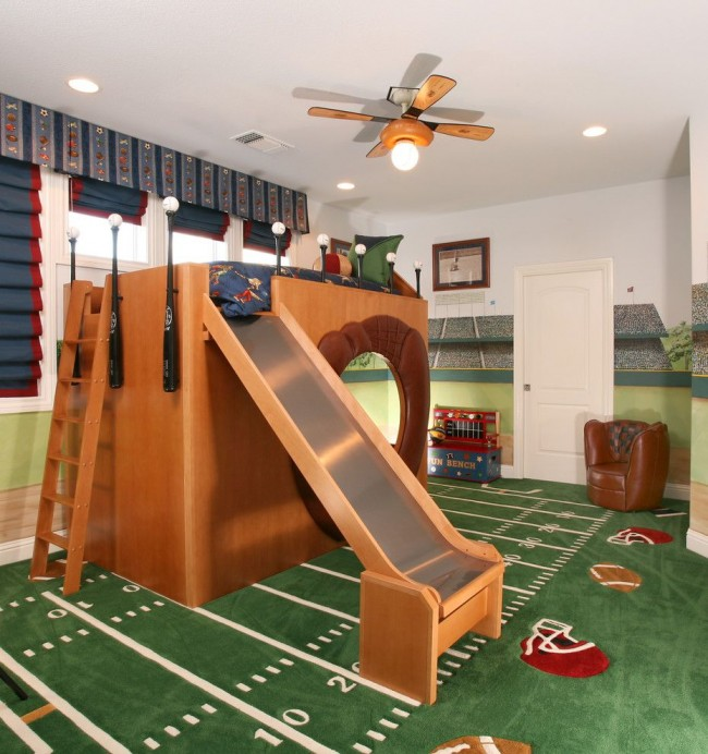 Creative Kids Bedrooms American Football Inspired Room