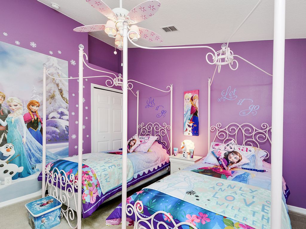 Creative Kids Bedroom ideas Disneys Frozen Girls Room