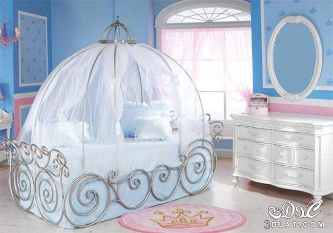 Creative Kids Bedroom Cinderella Pumpkin Carriage Bed