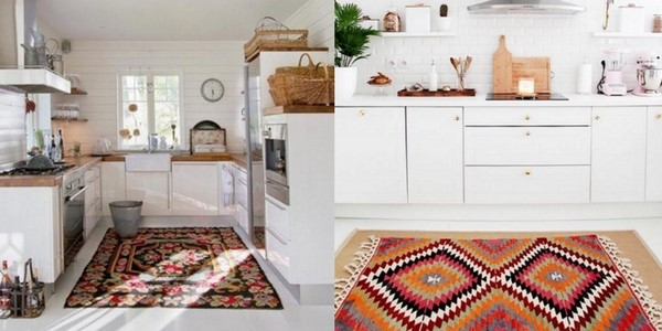 best kitchen rugs collage of bright coloured orange rugs in white, bright and clean kitchens