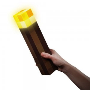 minecraft kids room pixelated torch