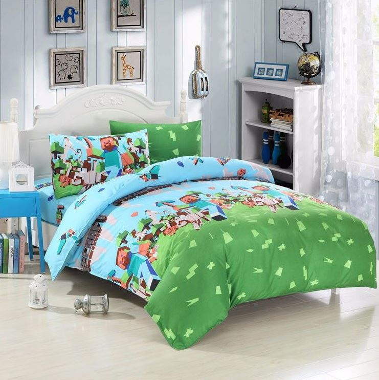 minecraft kids bedroom character duvet