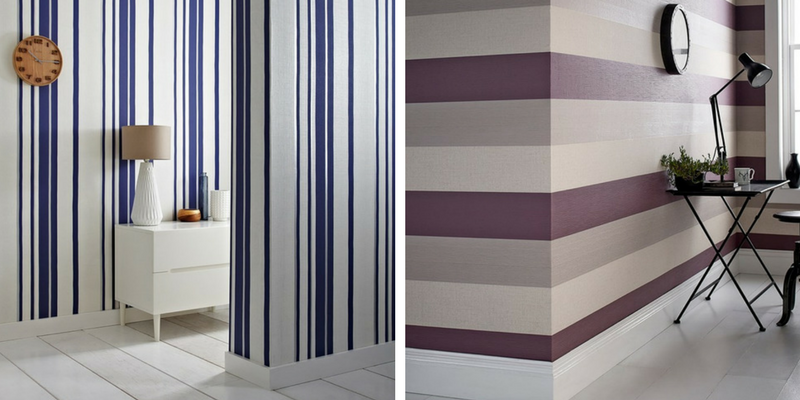stripes trend horizontal and vertical wallpaper striped interiors