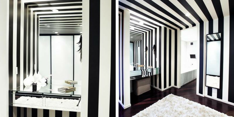 stripes trend black and white horizontal striped rooms