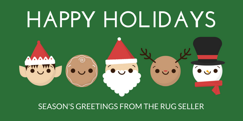 merry christmas happy holidays from the rug seller