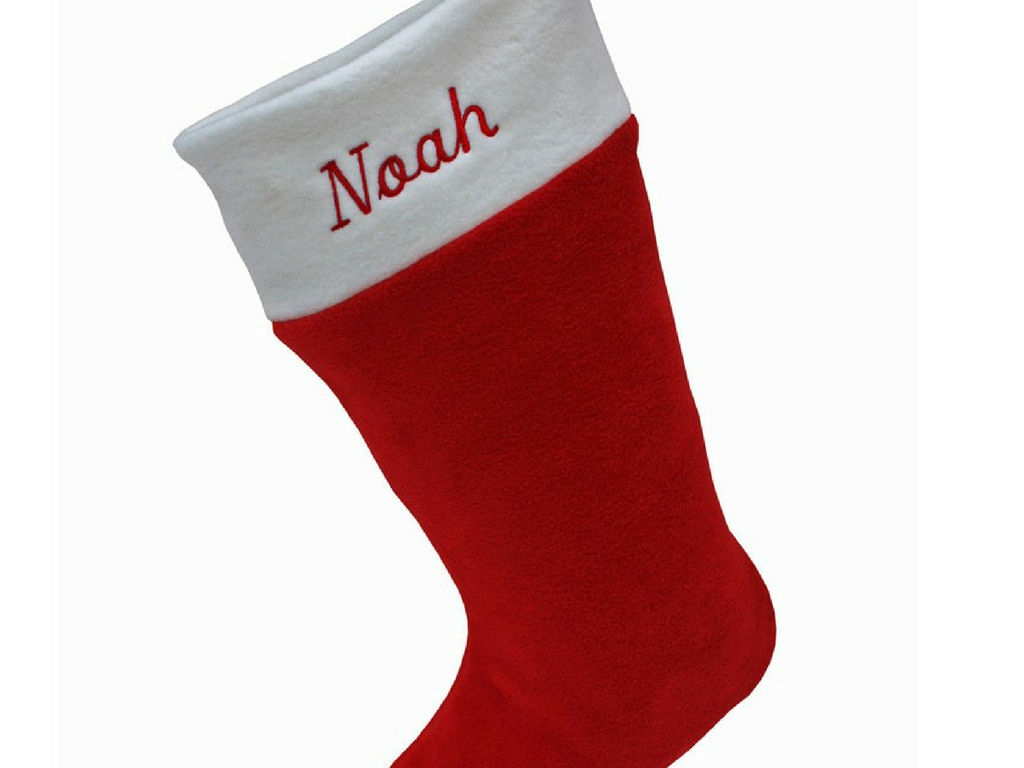 Christmas personalised red christmas stocking