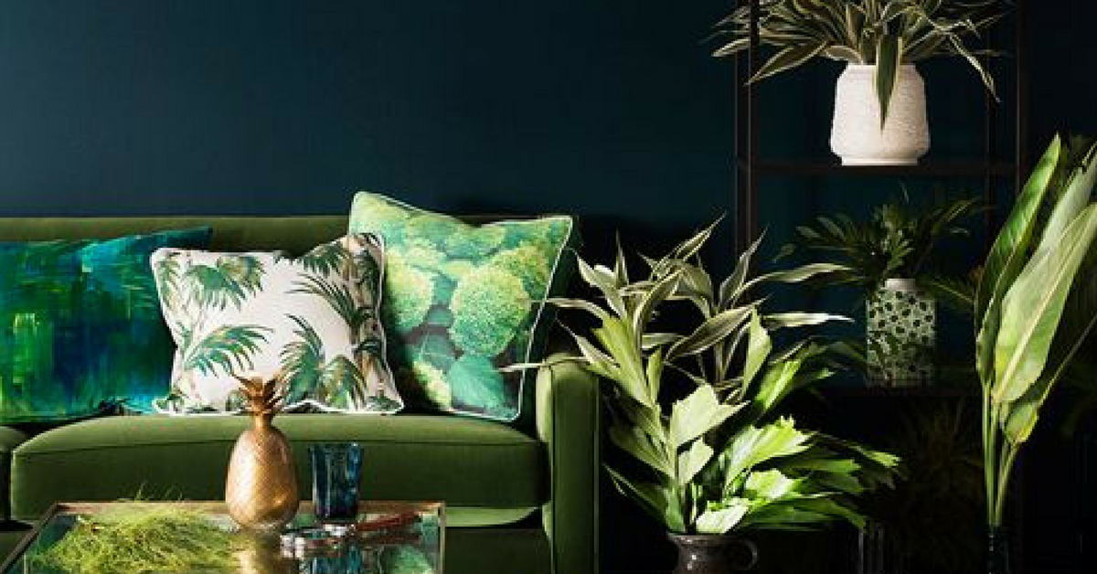 interior design trends dark green interior