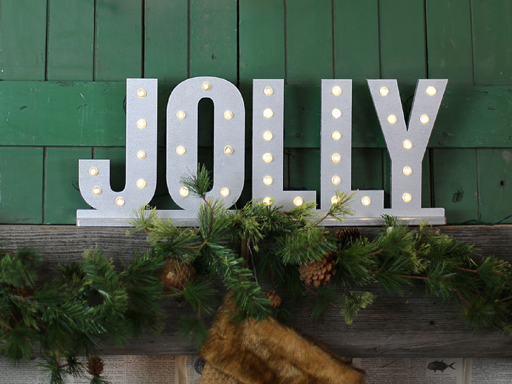Christmas LED lights sign