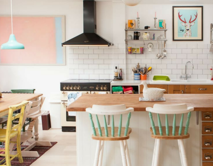 playful interiors colourful kitchens