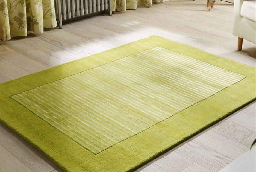 Green colour trend plain green coloured rug