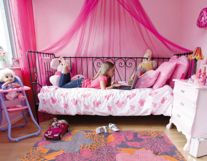 playful interiors girl childrens bedroom pink