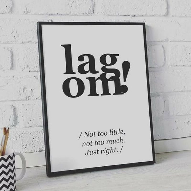 Lagom wall art meaning