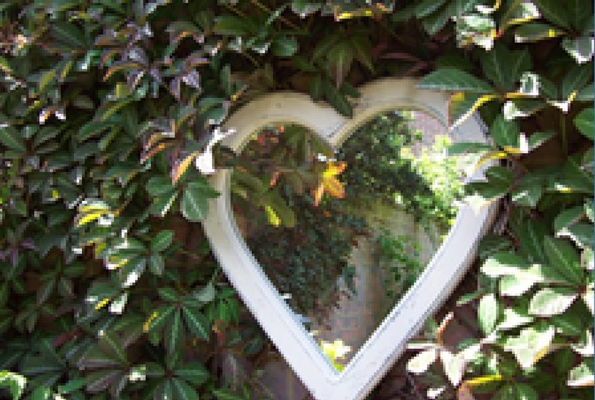 Valentine's day home decor Love Hearts Garden Mirror