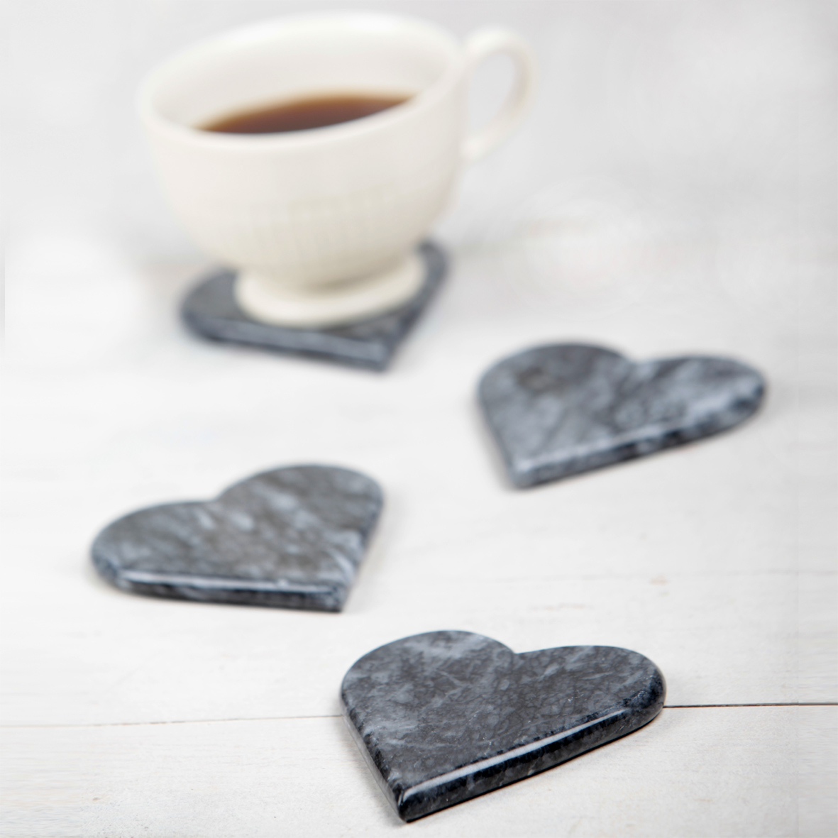 Valentine's day home decor Marble Heart Coasters