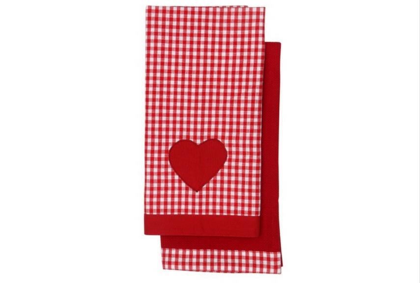 Valentine's day home decor Set of 2 Tea Towels – Vintage Home Claret