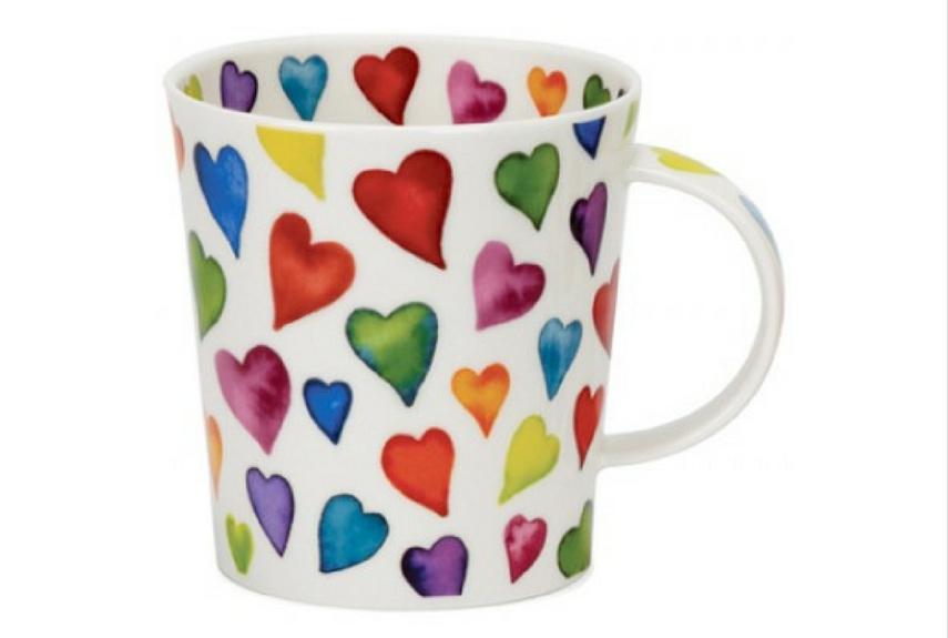 Valentine's day home decor Dunoon Warm Hearts Lomond Shape Mug