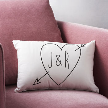 Valentine's day home decor Not on the high street personalized initial cushions