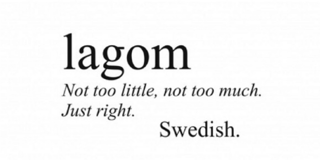 Lagom meaning
