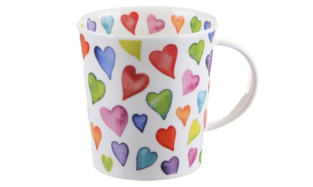 Valentine's day home decor Dunoon Warm Hearts Lomond Shape Mug